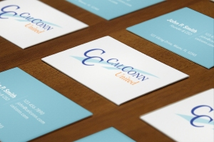 Creative Leif Designs | CalConn United Business Card Mock-up