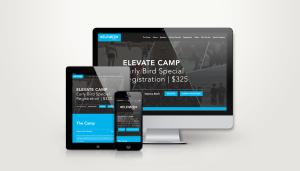 Creative Leif | Elevate Camp Website Design