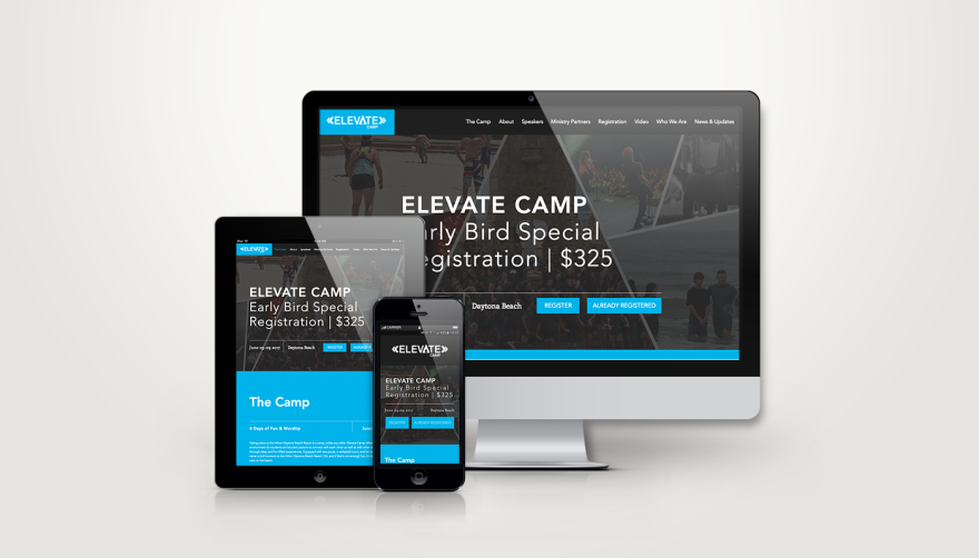 Creative Leif | Elevate Camp Website Design